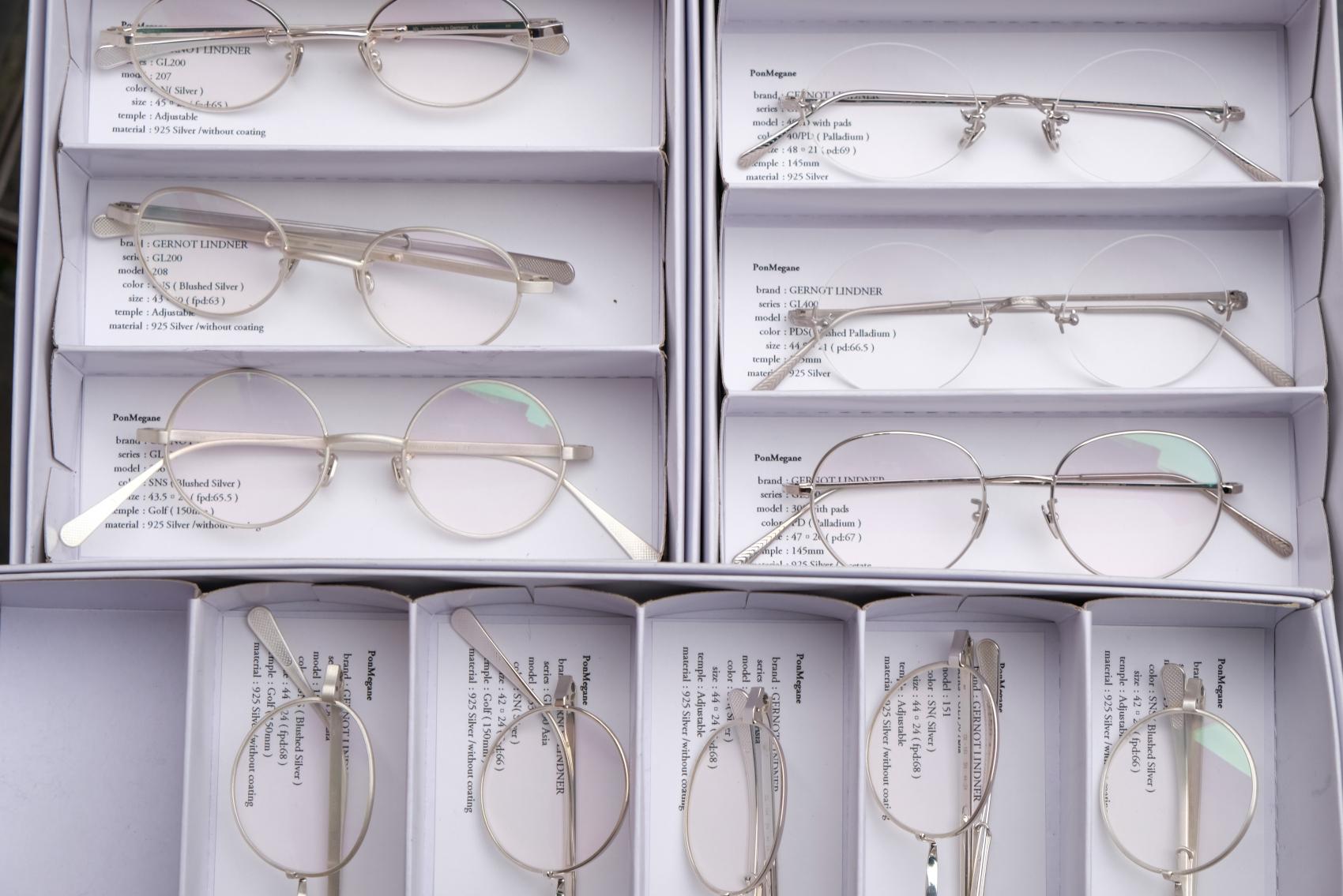 sterling silver製の眼鏡