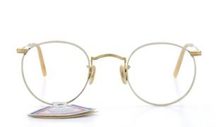 FRANCE Vintage LUX Clarte silver-frame gold-temple-bridge
