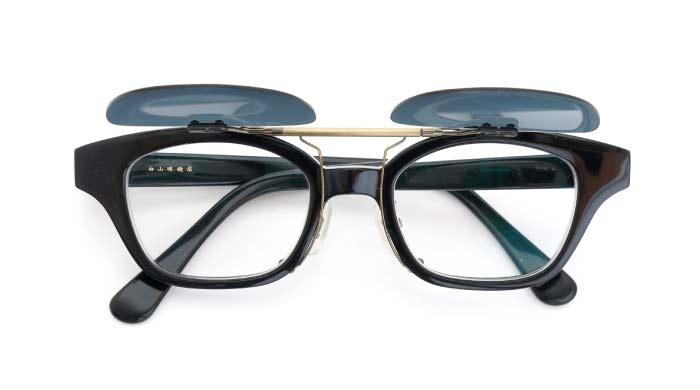 クリップオンサングラス 白山眼鏡 ブラック DG/AG OPEN
