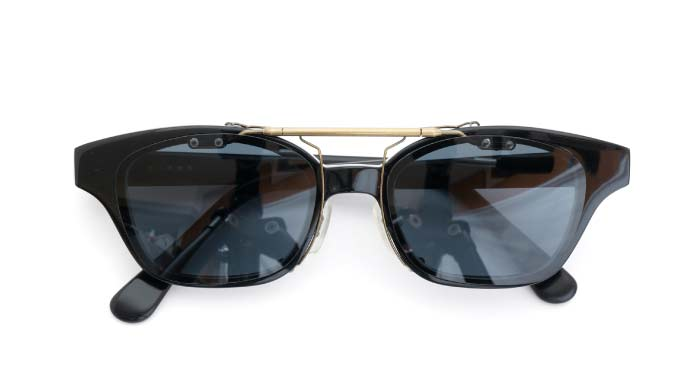 クリップオンサングラス 白山眼鏡 ブラック DG/AG CLOSE