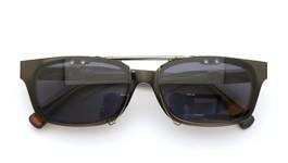 UNITED ARROWS×金子眼鏡クリップオンサングラスデミ/ゴールド ダークグレーレンズAG 装着例 close