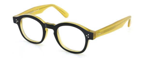 Lesca レスカ メガネ mod.PO.80 col.240 Black/Yellow-clear