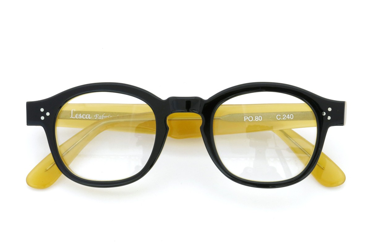 Lesca Lunetier mod.PO.80  col.240 Black/Yellow-clear 4