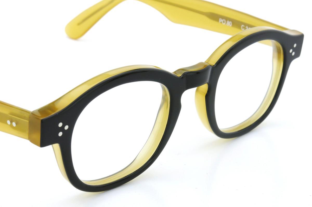 Lesca Lunetier mod.PO.80  col.240 Black/Yellow-clear 6