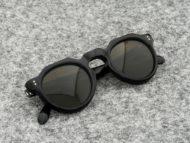 Lesca VINTAGE サングラス CROWN-PANTO 8mm Black (v51)