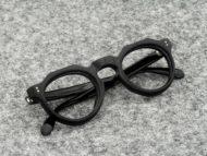 Lesca VINTAGE メガネ CROWN-PANTO 8mm Black (v52)