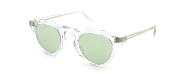 Lesca レスカ Vintage Crown Panto type-A CLEAR 6mm (v1) Light-GREEN-Lense