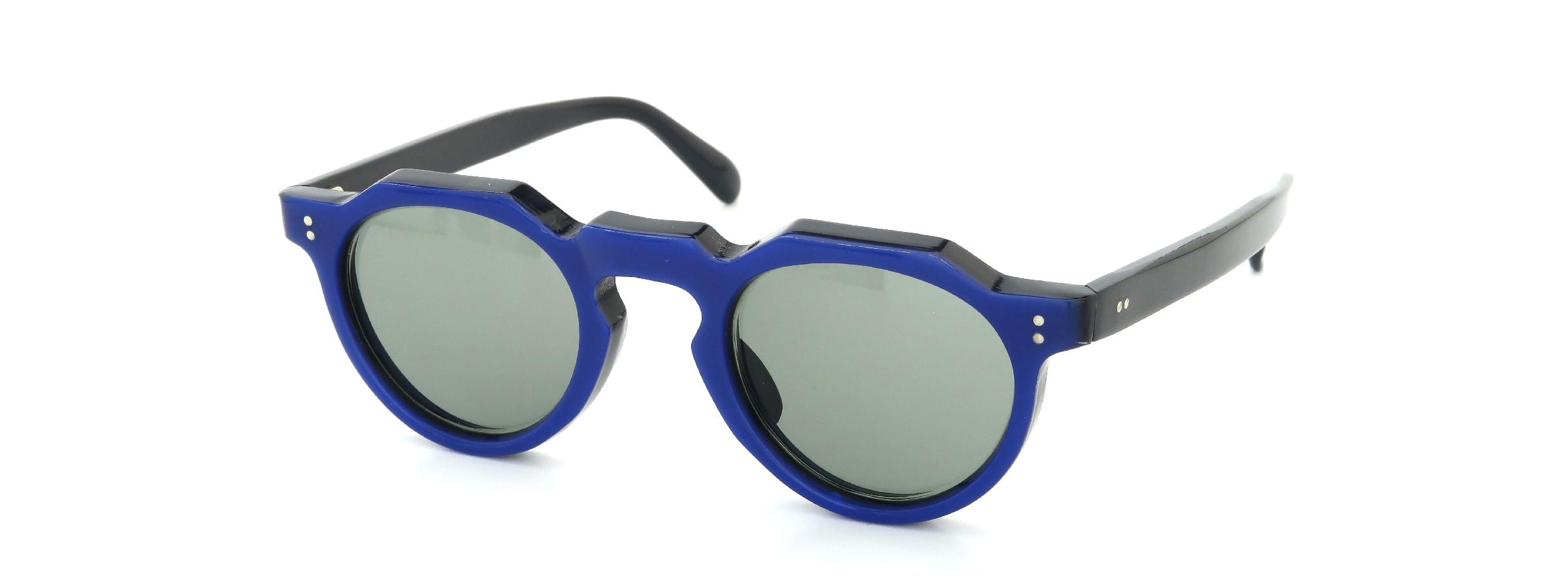 Lesca Vintage Crown-Panto Cobalt-Blue/Black 7mm (v1)