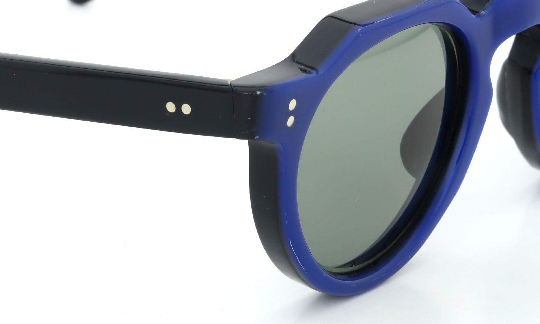 Lesca Vintage Crown-Panto Cobalt-Blue/Black 7mm (v1) 5