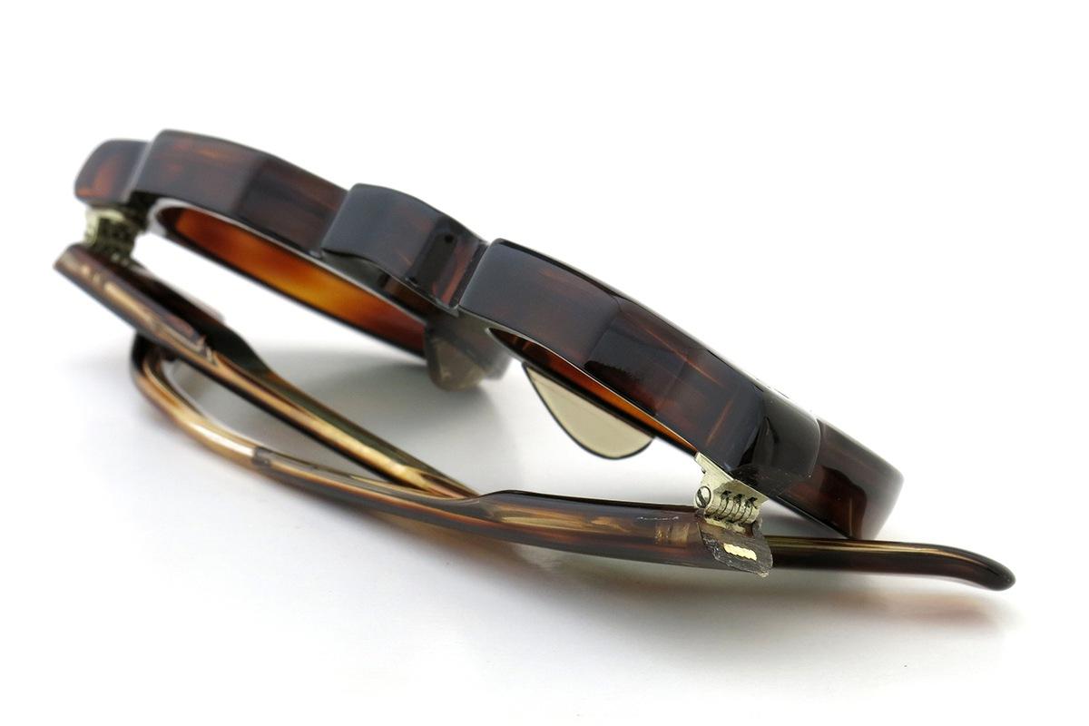 Lesca  Vintage Crown Panto type-A Crystal-Brown 8mm (v7) 14