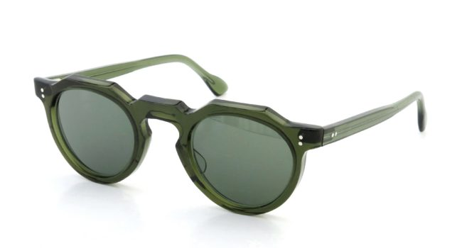 Lesca Vintage Crown-Panto type-A Green 6mm (v5) Green-Grey-Lense
