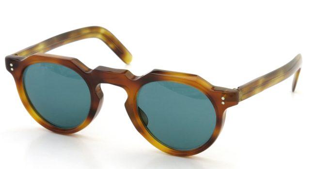 Lesca レスカ Vintage Crown-Panto type-A 6mm Light-Demi (v9) Turquoise-lense
