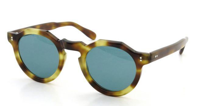 Lesca レスカ Vintage Crown-Panto type-B 4mm Deep-havana (v2) Turquoise-lense