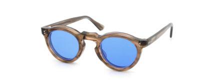 Lesca レスカ VINTAGE Panto Ash-Brown-sasa 8mm (v5) Sapphire-Blue-Lens