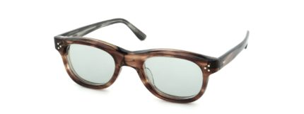 Lesca レスカ Vintage Rectangle Ash-Brown-Sasa 8mm (v1) Light-Grey-Lens