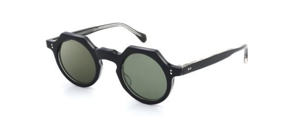 Lesca レスカ Vintage TONDO-ECK Black/Clear-Grey Grey-Green-lens