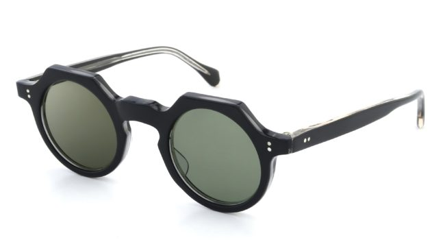 Lesca Vintage TONDO-ECK Black/Clear Grey-Green-lense