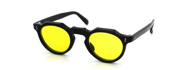 Lesca レスカ VINTAGE Crown-Panto Black 6mm (v26) Yellow-Lens