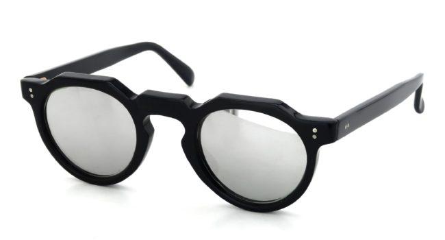 Lesca VINTAGE Crown-Panto Black 6mm v29 Silver-Mirror-Lens