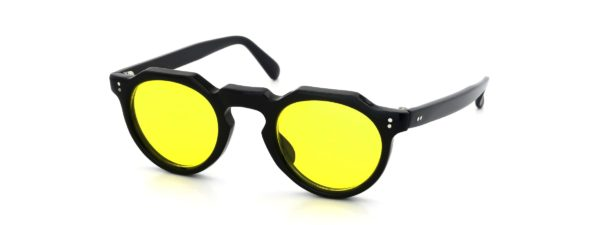 Lesca レスカ VINTAGE Crown-Panto Black 6mm (v31) Yellow-Lens