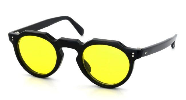 Lesca VINTAGE Crown-Panto Black 6mm (v31) Yellow-Lens