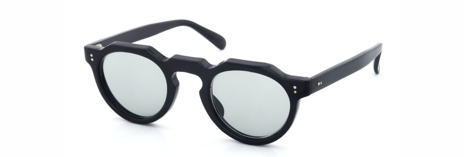 Lesca レスカ VINTAGE Crown-Panto Black 6mm (v32) Light-Grey-Lens