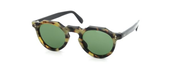 Lesca レスカ Vintage Crown-Panto Classic-Tortoise 6mm (v1) Green-Lens