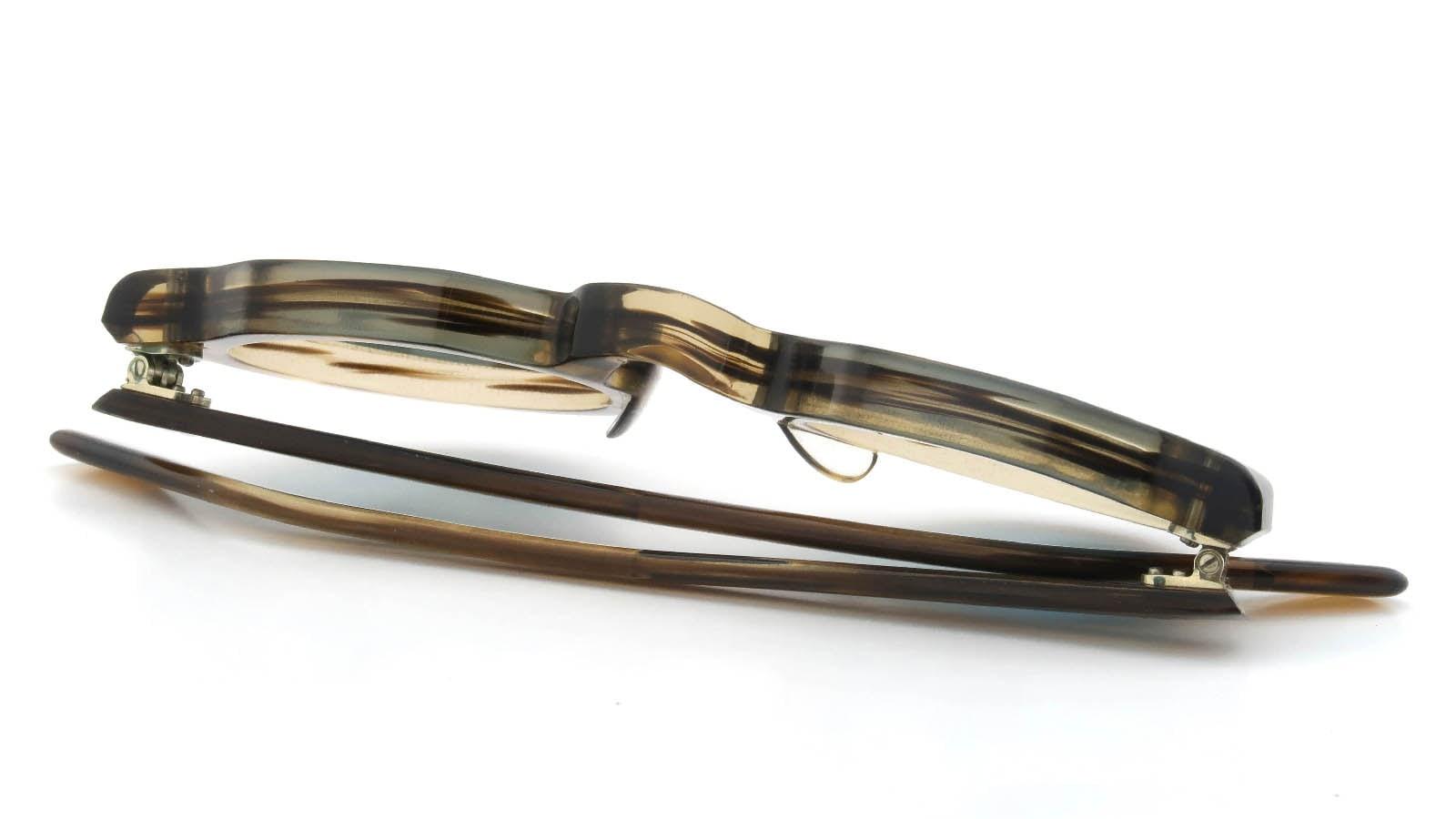 Lesca VINTAGE Crown-Panto Brown-Olive 8mm (v5) 12