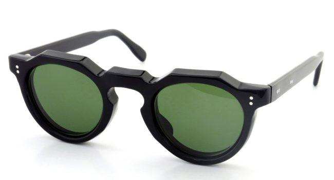 Lesca Vintage Crown Panto 2pin+2pin Black 8mm (v1) Green-Lense_1