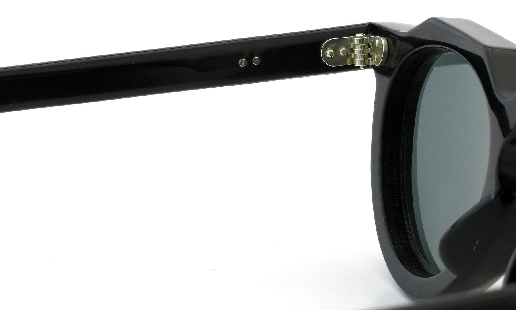 Lesca Vintage Crown-Panto 2dot+2dot Black 8mm (v10) Dark-Grey-Lense 9