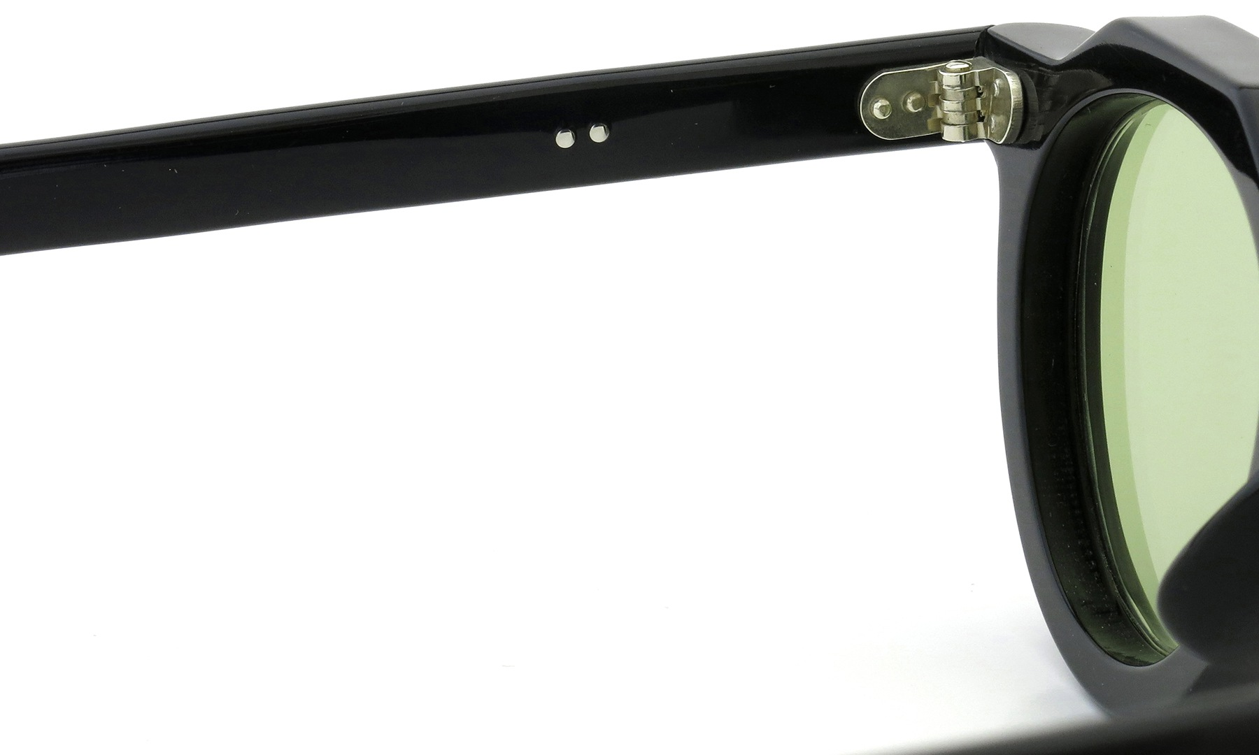 Lesca Vintage Crown-Panto 2dot+2dot Black 8mm (v9) 9