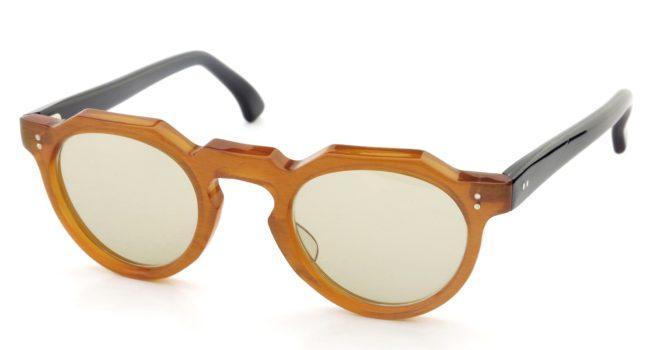 Lesca レスカ Vintage Crown-Panto type-A Orange 6mm (v1) Light-Brown-Lense