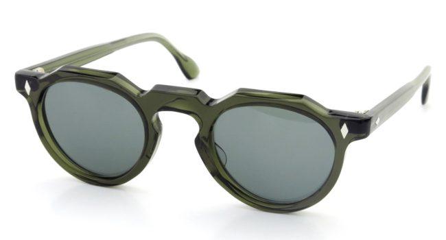 Lesca レスカ Vintage Crown-Panto type-A Deco Green 6mm (v1) Grey-Lense