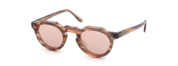 Lesca レスカ Vintage Crown-Panto Pink-Grey-sasa 8mm (v4) Light-Pink-Lens