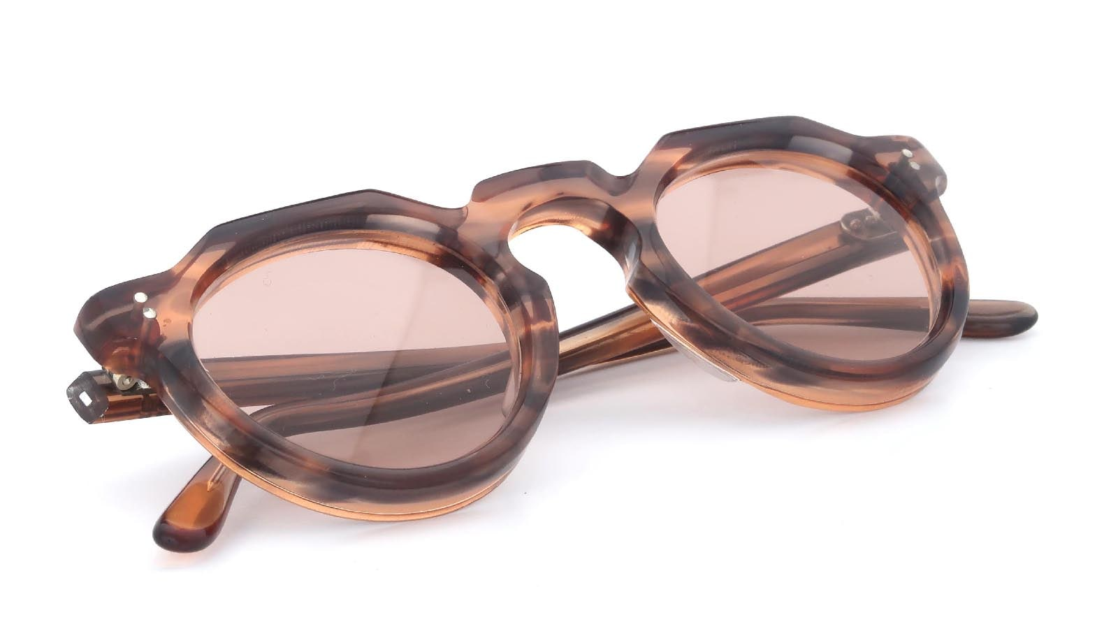 Lesca VINTAGE Crown-Panto Pink-Grey-Sasa 8mm (v4) 11