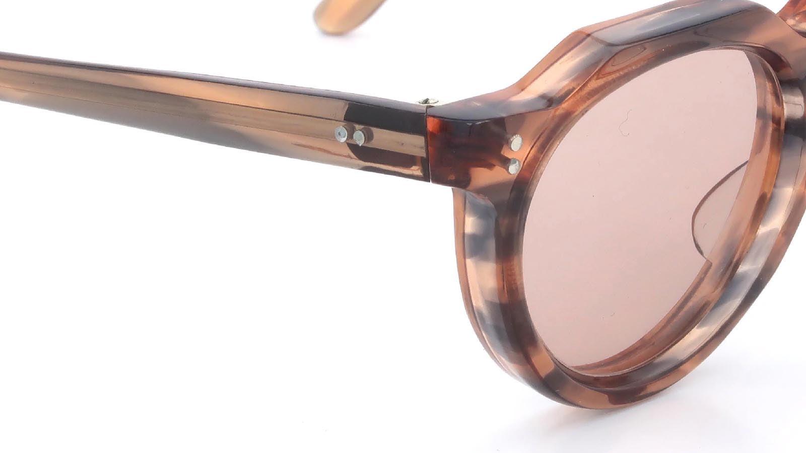 Lesca VINTAGE Crown-Panto Pink-Grey-Sasa 8mm (v4) 5