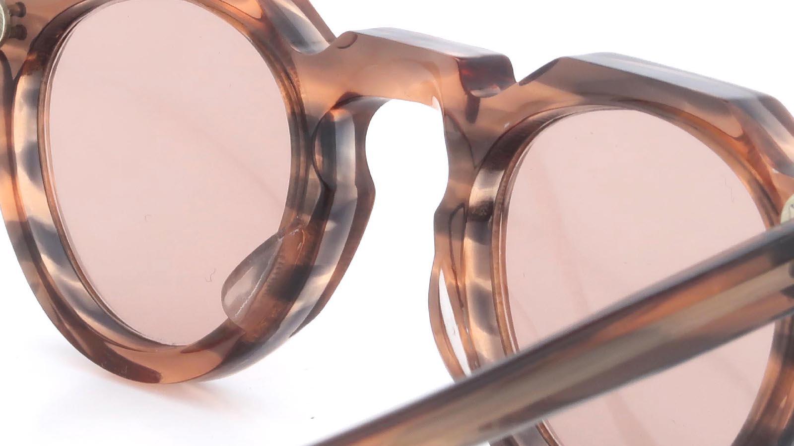 Lesca VINTAGE Crown-Panto Pink-Grey-Sasa 8mm (v4) 8