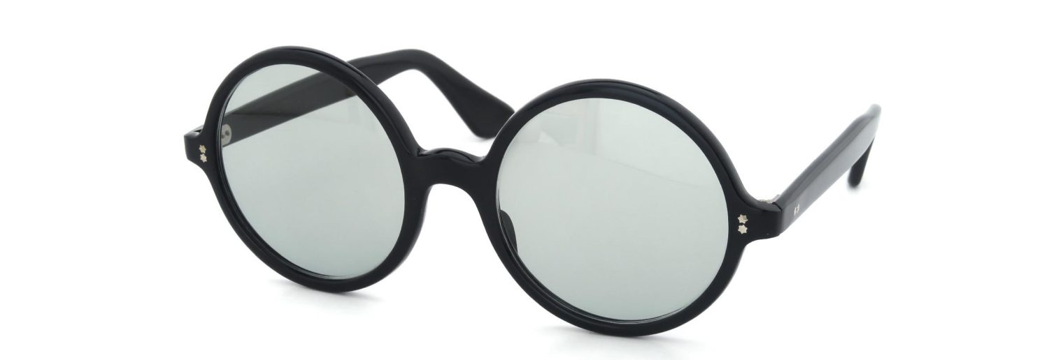 Lesca レスカ Vintage Round-XL Black (v1) Light-Grey-Lens