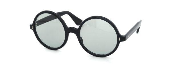 Lesca レスカ Vintage Round-XL Black (v1) Light-Grey-Lens