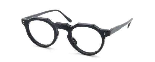 Lesca レスカ Vintage fv-0551 (v3) 6mm Black Slim-temple