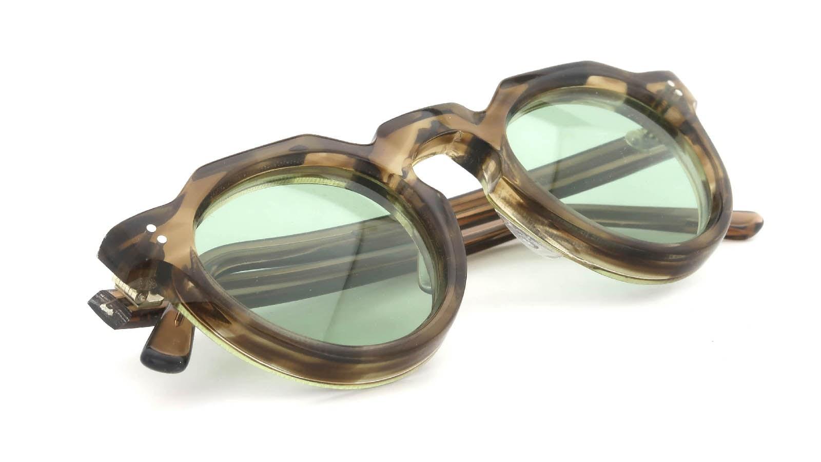 Lesca  Vintage Crown-Panto Brown-Olive 8mm (v1) 11