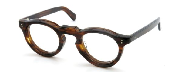 Lesca レスカ Vintage HF-0557 (v2) 8mm Brown-sasa/Demi