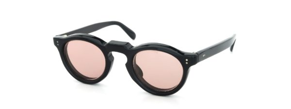 Lesca レスカ Vintage Panto Black 8mm (v6) Light-Pink-Lens