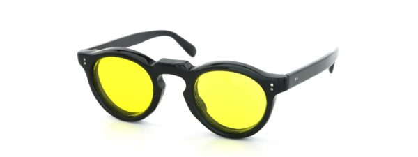 Lesca レスカ Vintage Panto Black 8mm (v7) Yellow-Lens