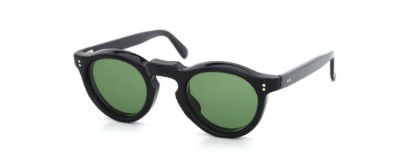 Lesca レスカ Vintage Panto Black 8mm (v8) Green-Lens