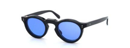 Lesca レスカ Vintage Panto Black 8mm (v9) Sapphire-Blue-Lens