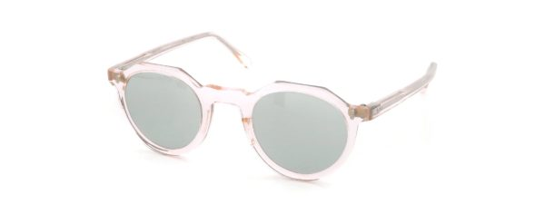 Lesca レスカ Vintage Crown-Panto type-C 4mm Crystal-Pink (v1) Light-Grey-Lens