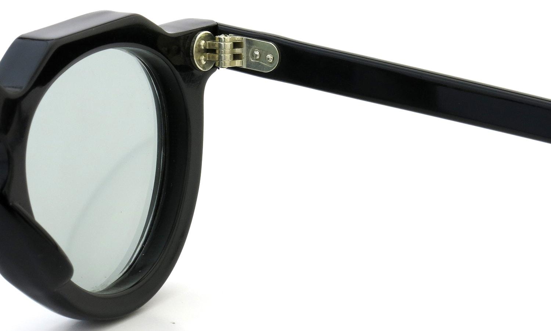 Lesca Vintage Crown-Panto 8mm Black (v16) Light-Grey-lens 11