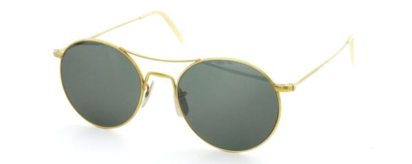 Lesca レスカ サングラス Vintage fv-0565 (v2) Gold/Dark-Green-lense