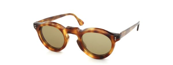 Lesca レスカ Vintage Panto Light-Havana 8mm (v5) Brown-lens